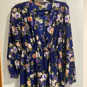 Lulus floral midi dress.